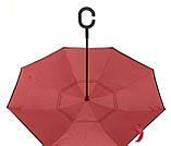 Червоний парасолька зворотного складання up-brella *Парасолька Навпаки*, фото 4