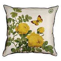 Подушка для интерьера из мешковины 45х45 Secret garden (45PHB_BOT004_WH)