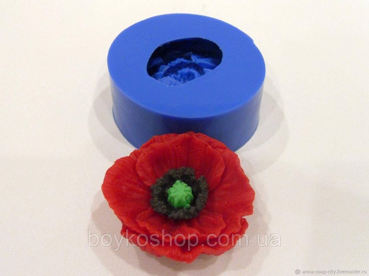 Форма силиконовая для мыла 3Д мак