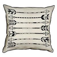 Подушка для интерьера из мешковины 45х45 Tribal fall (45PHB_TFL020_BL)