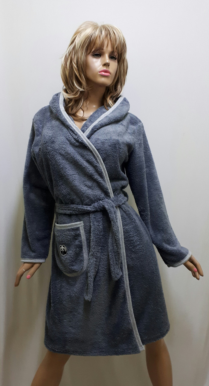 Халат женский махровый большого размера 634, фото 1