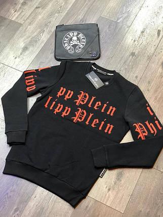 Свитшот стильный Philipp Plein черно-красный топ реплика, фото 2