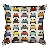 Подушка для интерьера из мешковины 45х45 Volkswagen (45PHB_VOL027_WH)