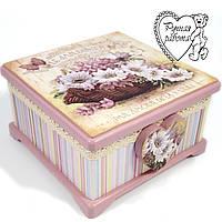 Скринька Кошик з квітами 17 *17* 9,5 см