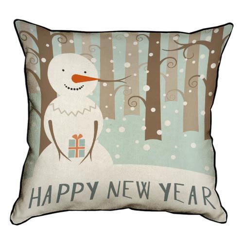 Подушка интерьерная из мешковины Happy New Year 45x45 (45PHB_17NG022_BR)