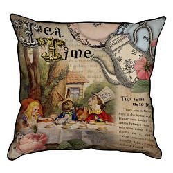 Подушка інтер'єрна з мішковини Tea time 45x45 см (45PHB_WON002_BR)