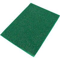 """М'який Фетр з глітером """"Santi"""" 21 х30 см зелений (10) №741814, фото 1"""