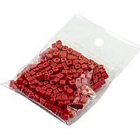 Бисер квадратный оттенки розово-красного