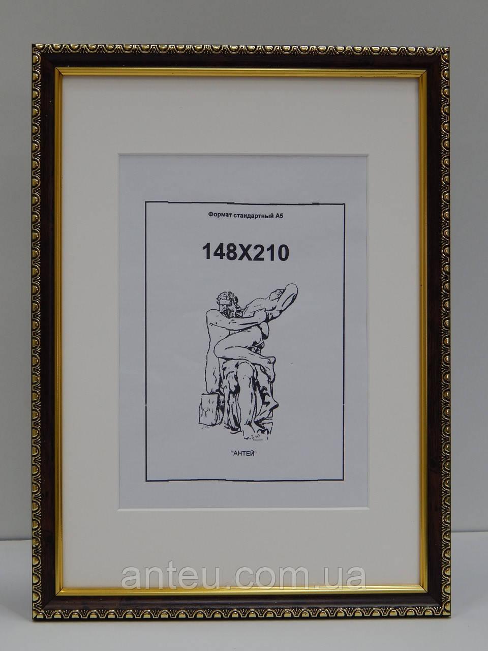 Рамка стандартная А4 (210х297)С паспарту окно А5