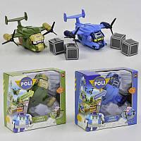 """Вертолёт  """"робокар поли""""  2 вида, в коробке"""