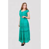 Платье женское летнее белое,бирюза, синее
