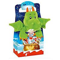 Новогодний набор сладостей Kinder Maxi Mix c мягкой игрушкой (динозавр), 133 гр.