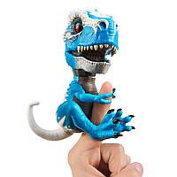 Интерактивный динозавр Тирекс голубой, Untamed T-Rex Ironjaw, Fingerlings, WowWee Оригинал из США, фото 1