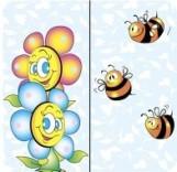 "Салфетка Silken 2-слойная ""Бджілка та квітка"" с печатью 24шт 33*33см"