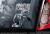 Цвергшнауцер (миниатюрный шнауцер) стикер