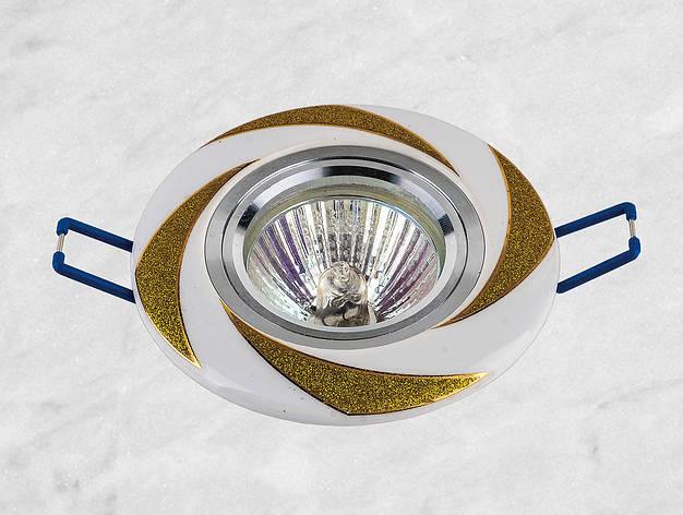 Керамический круглый светильник (модель 05-96 золото), фото 2
