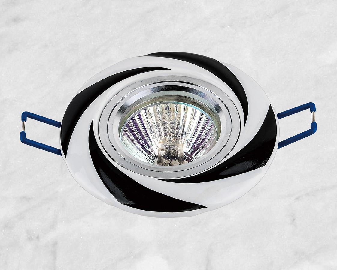 Керамический круглый светильник (модель 05-96 чёрный)