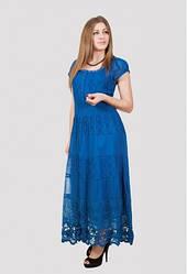 Платье женское летнее с ажурным низом (Индия)