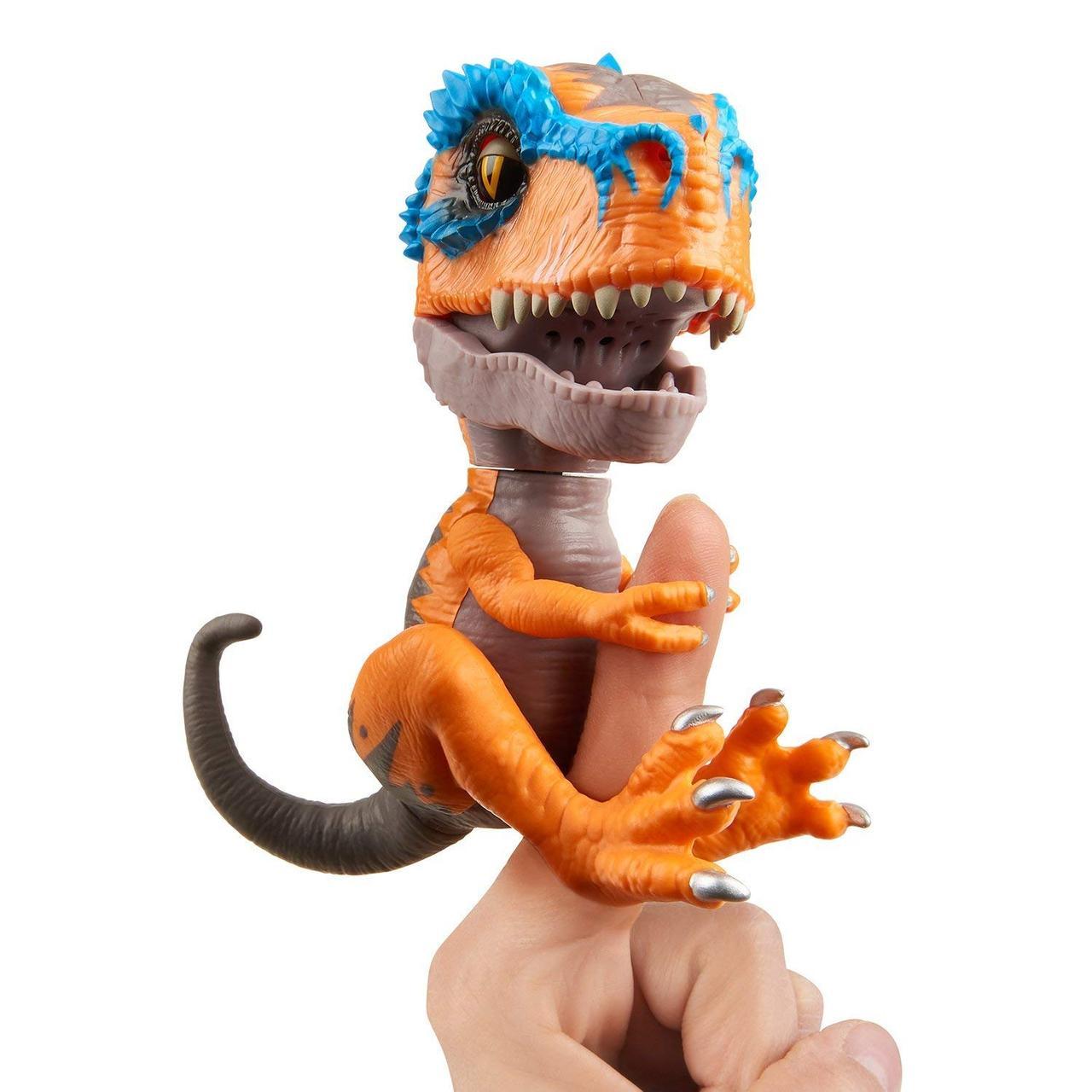 Интерактивный динозавр Тирекс оранжевый, Untamed T-Rex Scratch, Fingerlings, WowWee Оригинал из США