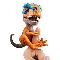 Интерактивный динозавр Тирекс оранжевый, Untamed T-Rex Scratch, Fingerlings, WowWee Оригинал из США, фото 1