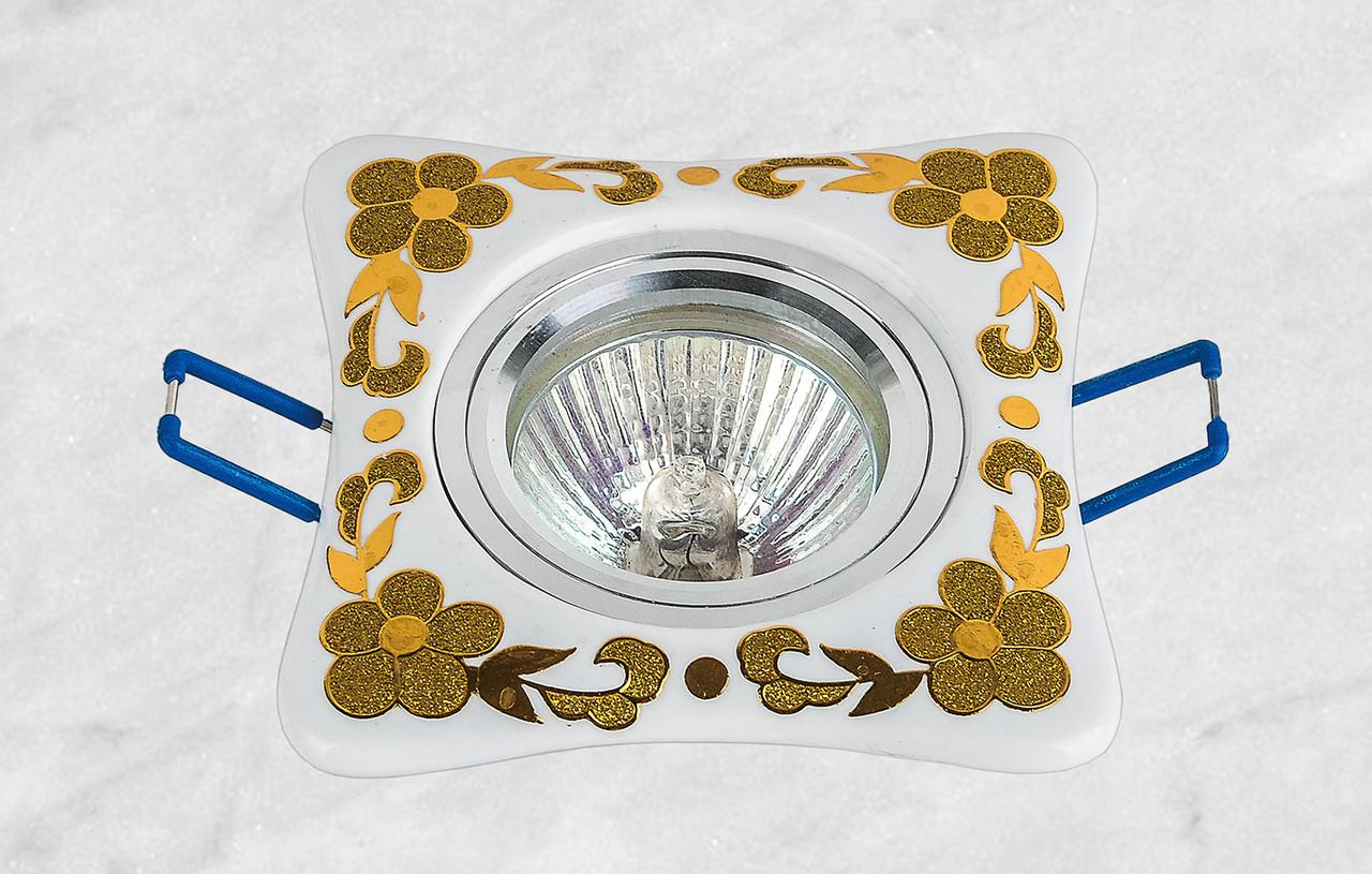 Керамический квадратный светильник (модель 05-97 золото)