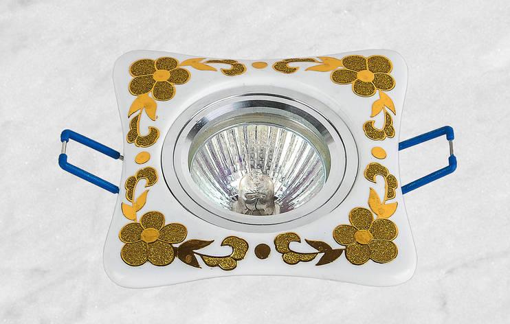 Керамический квадратный светильник (модель 05-97 золото), фото 2