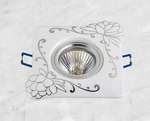 Керамический квадратный светильник (модель 05-98 хром), фото 2