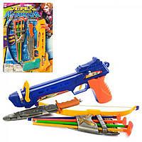Набір зброї: арбалет 27см,ніж,стріли-присоски,колчан,на планшеті,25х38х3,5см №395A(120)