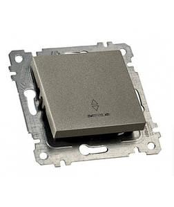 """Механізм вимикача 1 кл, 10А, прохідний зі світлодіодним підсвічуванням """"MUTLUSAN"""", Графіт """"RITA"""""""