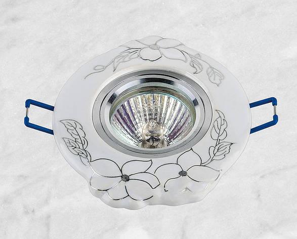 Керамический круглый светильник (модель 05-99 хром), фото 2