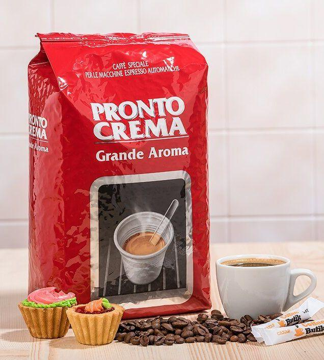 Кофе в зернах Lavazza Pronto Crema Grande Aroma 80% Арабики, 1кг. Оригинал, Италия