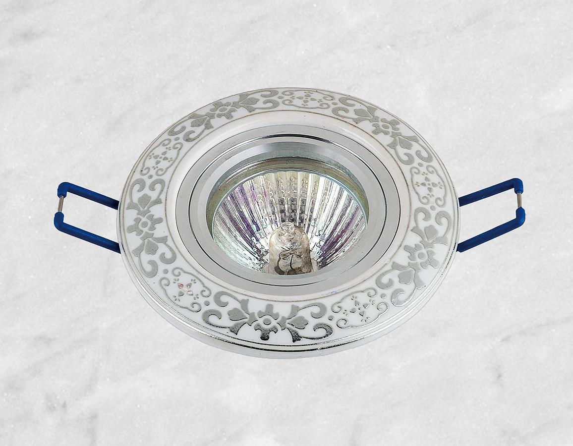 Керамічний круглий світильник (модель 05-94 хром)