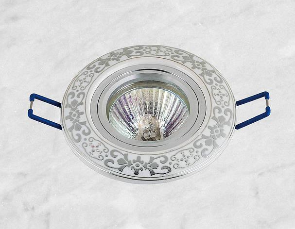 Керамічний круглий світильник (модель 05-94 хром), фото 2