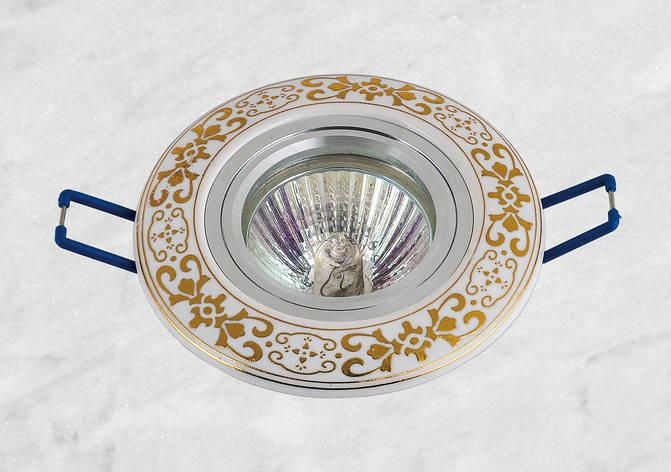 Керамический круглый светильник (модель 05-94 золото), фото 2