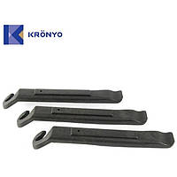 Лопатки для бортировки покрышек KRONYO TBP-09B пластиковые, черные (ОРИГИНАЛ)
