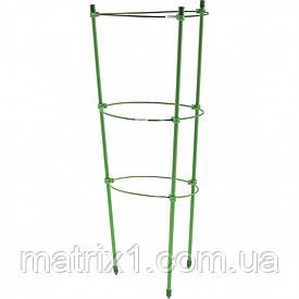Підтримка для рослин кругла H 45 см, метал в пластиці, 3 кільця. PALISAD