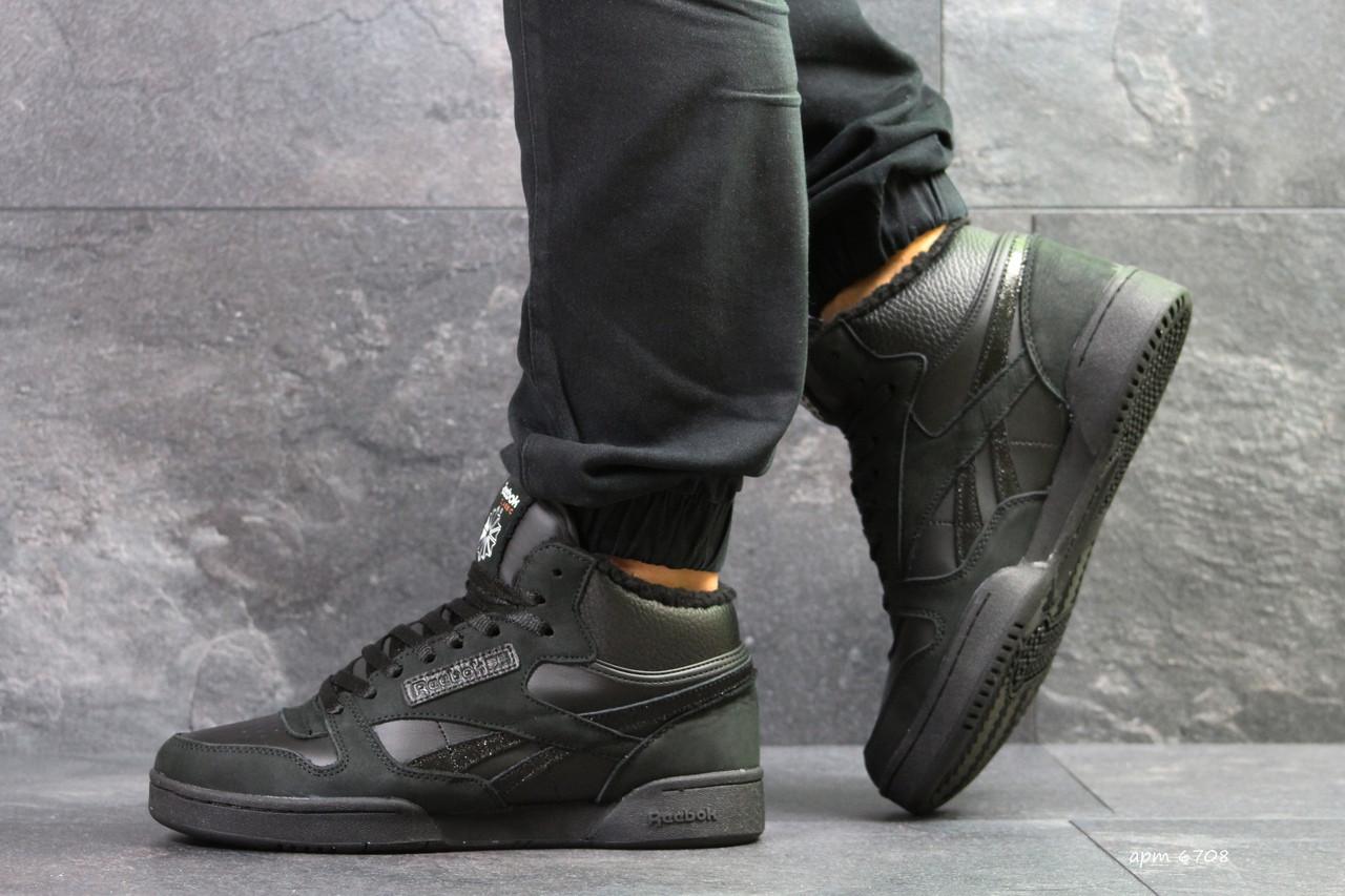 67a0c3e87bd5 Мужские высокие зимние кроссовки Reebok,черные,на меху  продажа ...