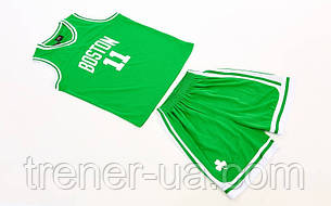 Форма баскетбольная подростковая NBA  Boston зеленый