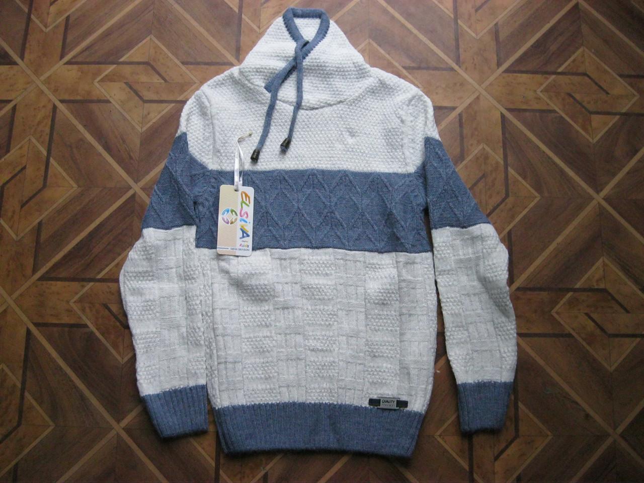 детский теплый вязаный свитер для мальчика 134 140см турция цена