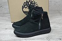 Мужские зимние ботинки Timberland черные (Реплика ААА+)