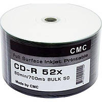 "CD-R ""CMC"" 52x 700mb №1144 bulk (50) printable full"