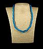Бусы  из голубой бирюзы,плетенка 4мм
