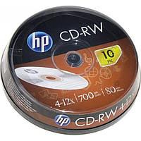 "CD-RW ""HP"" 12x 700mb штырь (10)"