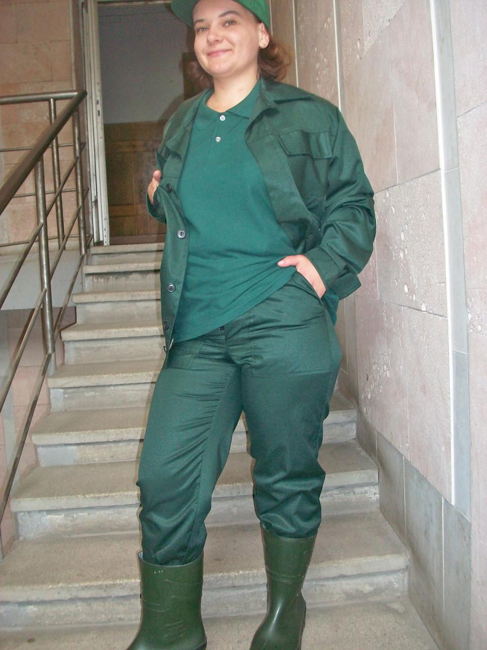 1458f2f5b72349 Костюм робочий стандарт, куртка коротка і штани, тк. грета, т-зелений