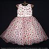 Детское платье бальное Крапинка (Красное) Возраст 4-5 лет.