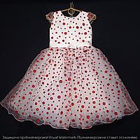 Детское платье бальное Крапинка (Красное) Возраст 4-5 лет., фото 1