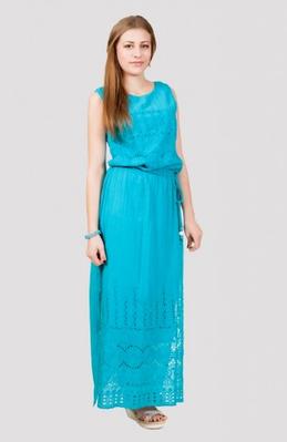 Платье женское с поясом длинное