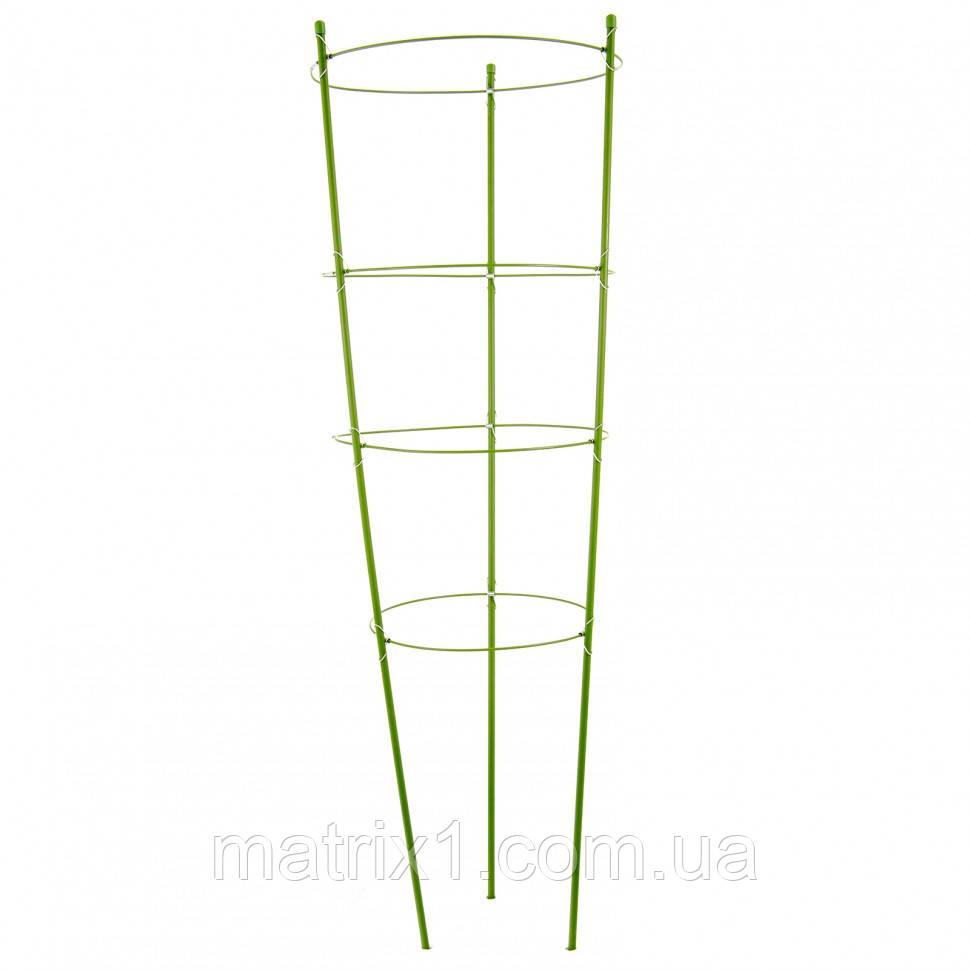Поддержка для растений круглая H 120 см, металл в пластике, 4 кольца. PALISAD