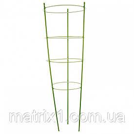 Поддержка для растений круглая H 150 см, металл в пластике, 4 кольца. PALISAD