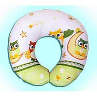 Подушка для кормления малышей Сова зеленый